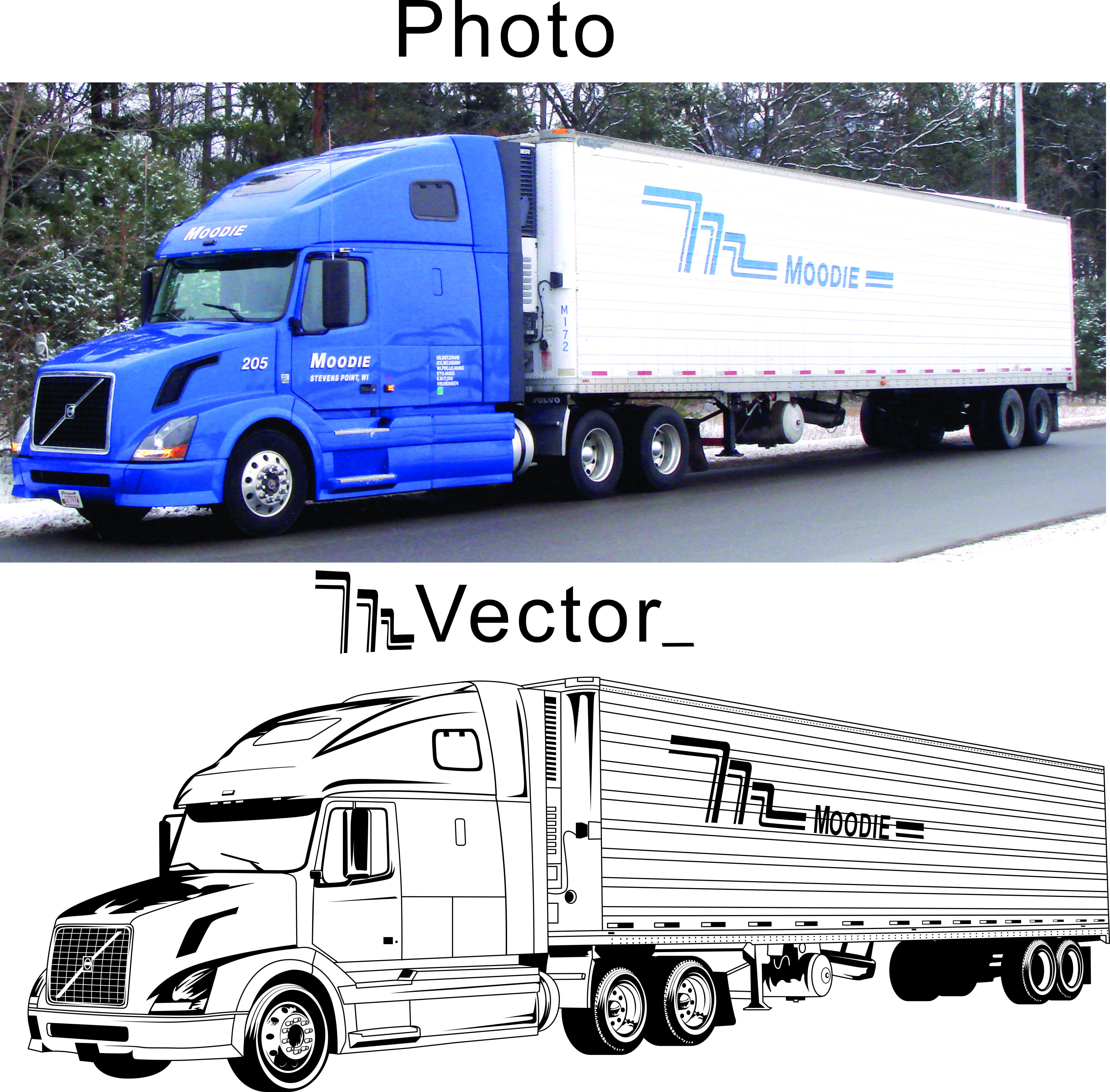 Line Art Truck : Truck line art images
