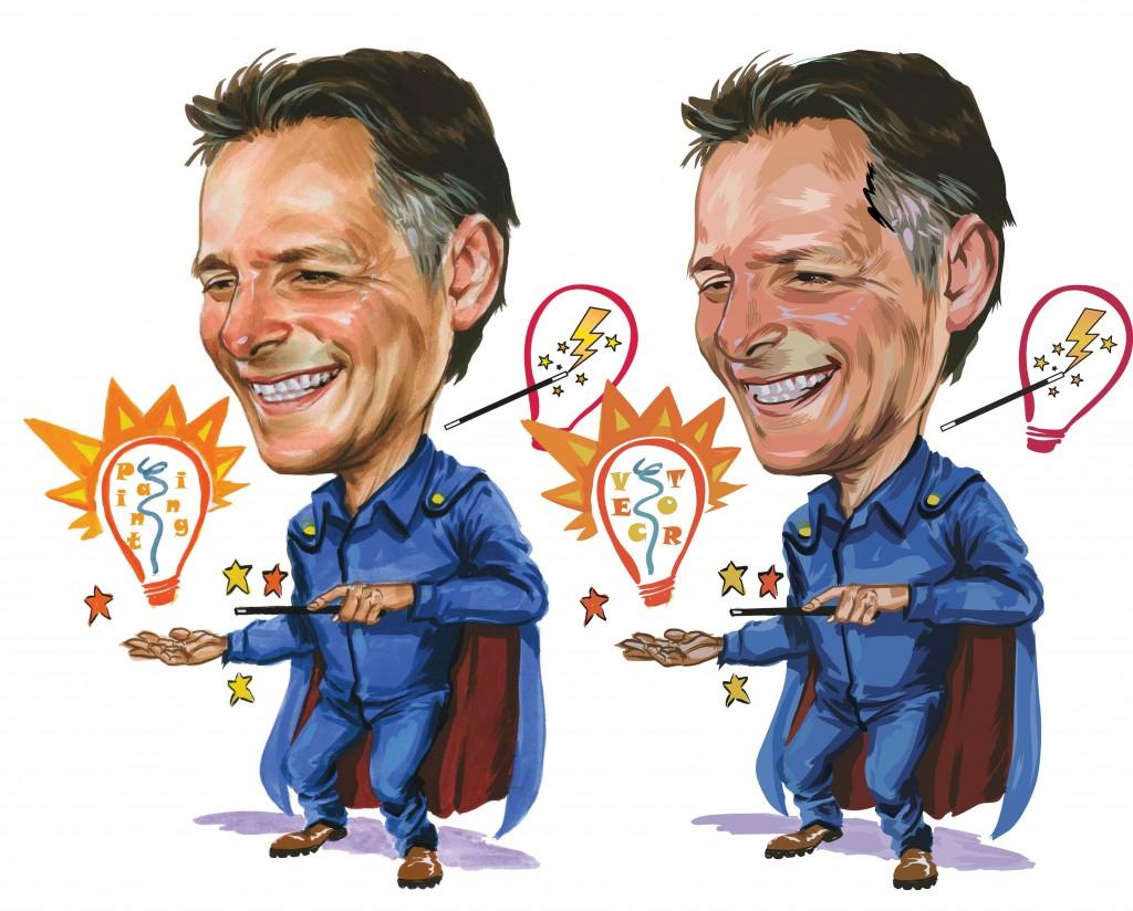 beforeafter em caricature