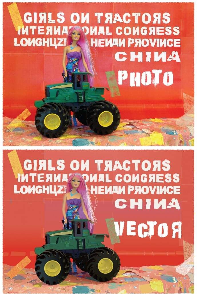 beforeafter girls on tractors barbie