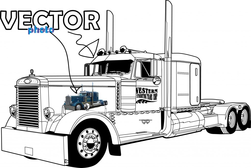 beforeafter peterbilt truck