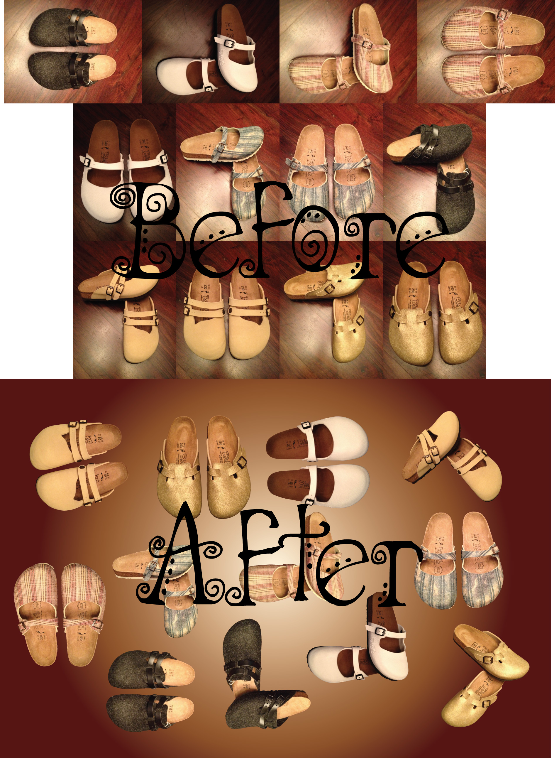 wooden background clipping shoes image