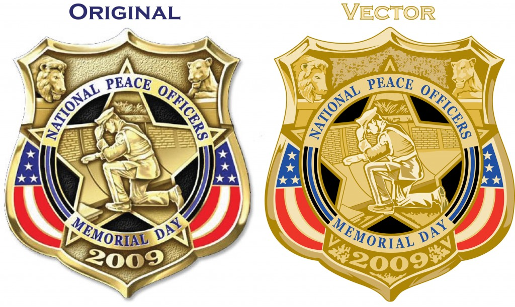 beforeafter national peace officers memorial day badge
