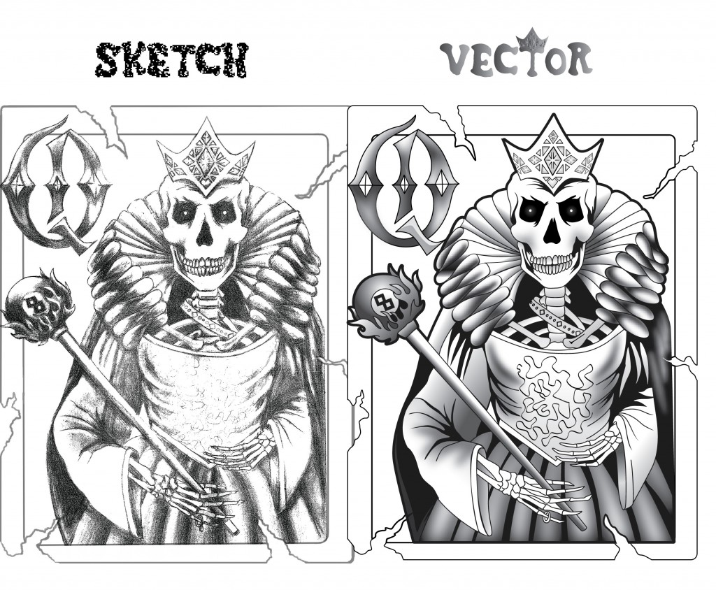 beforeafter skeleton queen