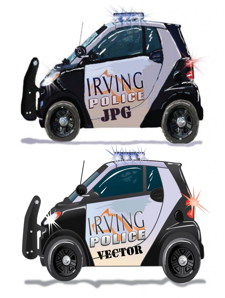 beforeafter smart car irving police